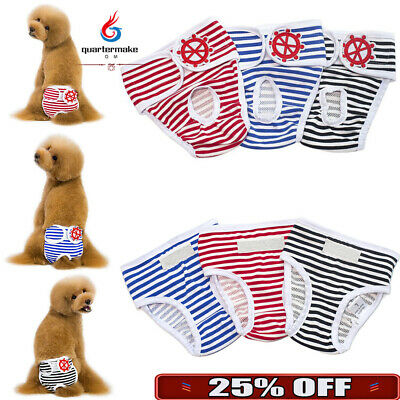 Female Dog Puppy Diaper Pants Washable Reusable Nappy Sanitary Panty Underwear • 2.32£