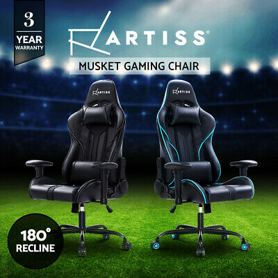 AU189.95 • Buy Artiss Gaming Office Chair Computer Chairs PU Leather Seat Racing Racer Black