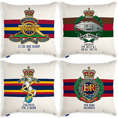 Personalised British Army Cushion Cover Military Christmas Gift Official MC • 12.95£