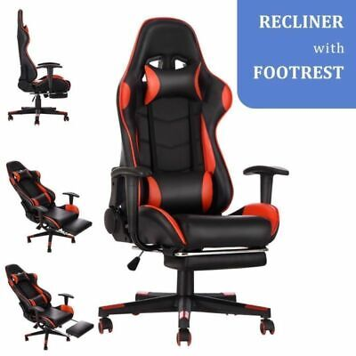 £79.99 • Buy Luxury Recliner Computer Chair Gaming Racing Office Executive Fx Leather Seat