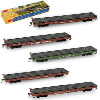 $ CDN21.91 • Buy 1pc Model Trains HO 1:87 52ft Flat Car 52' Flatbed Container Carriage Wagon