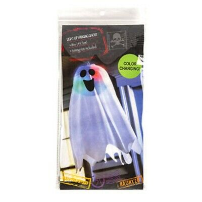 $ CDN9.67 • Buy Light Up Hanging Paper Lantern Ghost Cover 18  White With Color Changing Lights