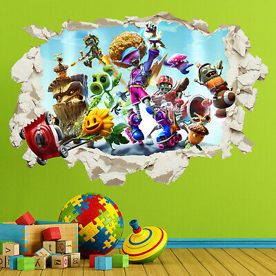 Plants Vs Zombies Battle For Neighborville Wall Sticker Decal Bedroom Kids Gift • 3.99£