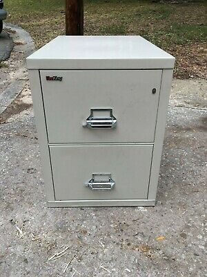 Fire King 2 Drawer Fire Proof Filing Cabinet Locking Safe • 500$