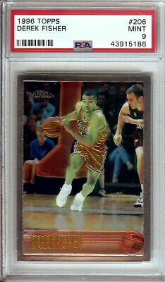 Derek Fisher 1996-97 Topps Chrome RC Rookie Card Graded PSA 9 Mint Lakers #206 • 49.99$