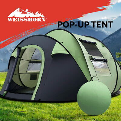 AU155.20 • Buy Weisshorn Instant Up Camping Tent 5 Person Pop Up Tents Family Hiking Dome Camp