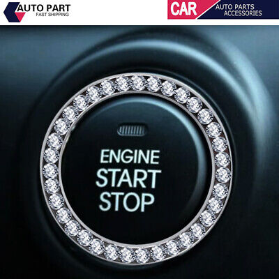 £3.59 • Buy 1x SUV Diamond Switch Car Accessories Button Ring Start Bling Decoration Circle
