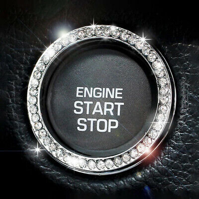 £4.59 • Buy SUV Diamond Switch Car Accessories Button Ring Start Bling Decoration Circle 1x