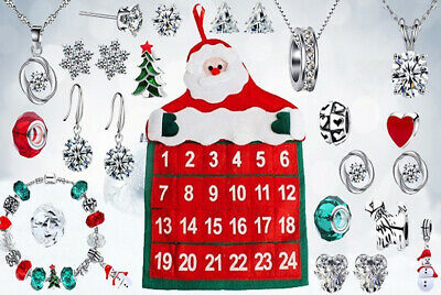 24 Day Jewellery Advent Calendar Gifts Made With Crystals From Swarovski Xmas • 19.95£