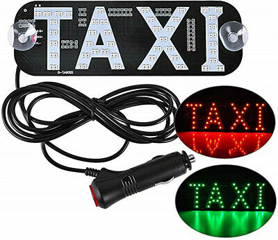 $12.49 • Buy LED Cab Taxi Roof Sign Light 12V Vehical Inside Windscreen Lamp Red & Green