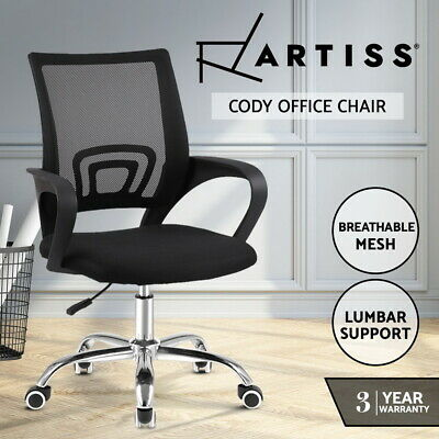 AU59.95 • Buy Artiss Office Chair Gaming Chair Computer Mesh Chairs Executive Mid Back Black