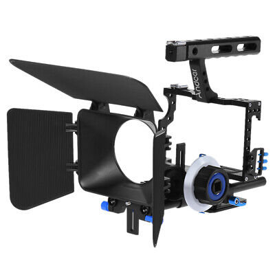 DSLR Rig Video Camera Cage GearBox Hand Grip Film Movie Kit For Canon Nikon G2U3 • 55£