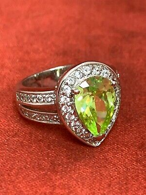 $59.95 • Buy Charles Winston Ring Sea Turtle Large Light Green CZ Sterling 925 Size 6.75