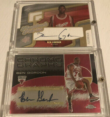 $ CDN30 • Buy Ben Gordon 8 Card Lot - 2 Rookie Autos, 2 Rookies & 4 Game Used Chicago Bulls