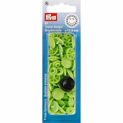 Prym Flower Plastic Press Fasteners - Apple Green • 3.09£