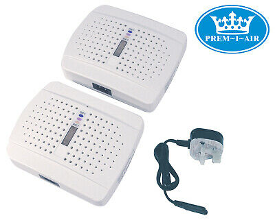 Prem-I-Air White Rechargeable Portable Moisture Removing Dehumidifier Twin Pack • 14.95£