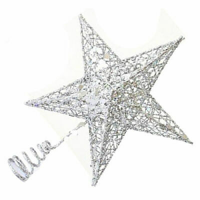 Christmas Tree Topper SET OF STAR HEART Bead Chain Placemat Ornaments Xmas • 6.99£