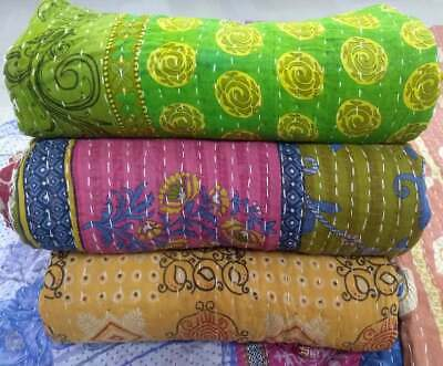 £51.99 • Buy INDIAN VINTAGE WHOLESALE LOT KANTHA BLANKET THROW  HIPPY QUILT BOHEMIAN Home