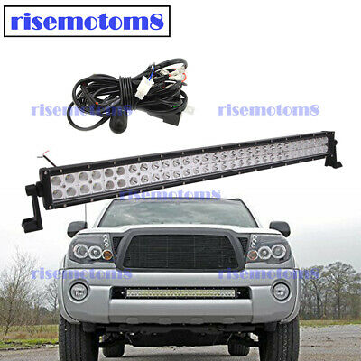 $48.79 • Buy Front Bumper Hidden Grille 30  LED Light Bar + Wire For 2005-2015 Toyota Tacoma