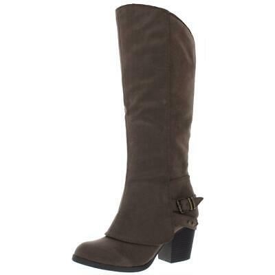 $19.99 • Buy American Rag Womens Emilee Faux Leather Knee-High Riding Boots Shoes BHFO 7913