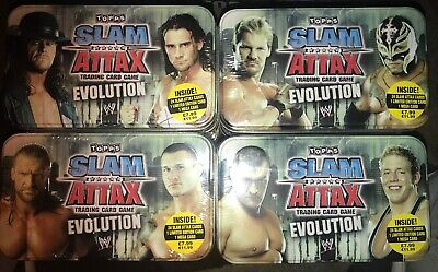 WWE Slam Attax Evolution 4 Different Sealed Mega Tins • 19.99£