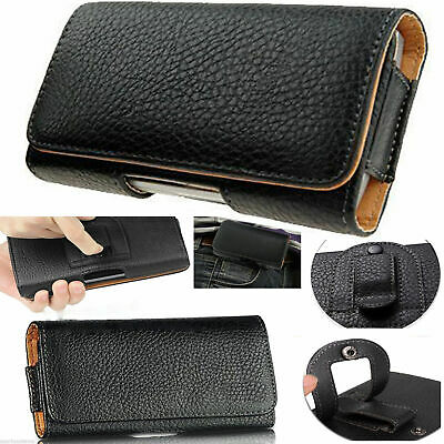 £4.30 • Buy Universal Belt Pouch Clip Hip Loop Case For Mobile Phone Cover PU Leather Wallet