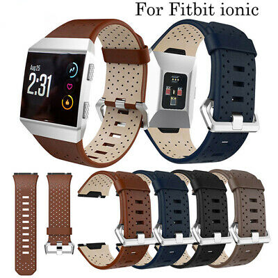 $ CDN13.17 • Buy For Fitbit Ionic Sport Leather Replacement Perforated Wrist Watch Band Strap