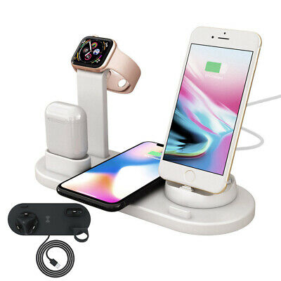 AU29.92 • Buy For IPhone X XS 11 Pro Max Qi Wireless Charger Charging Station Dock Stand 6 In1