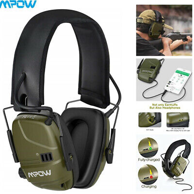 MPOW Green Electronic Ear Defenders Sport Comfort Shooting Protection Earmuffs • 29.75£