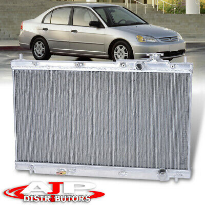 $107.99 • Buy Dual Core/Row Performance Engine Cooling Radiator For 2001-2005 Honda Civic 1.7L