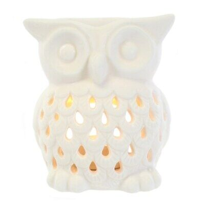 White Owl Ceramic Oil Burner - Tea Light Candle - Aromatherapy - Gift Boxed • 8.85£