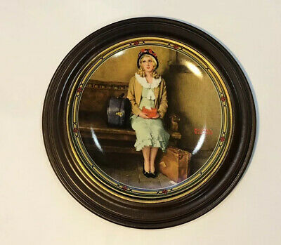"""$ CDN12.98 • Buy Knowles Collector Plates Norman Rockwell """"A Young Girl's Dream"""" With Frame"""