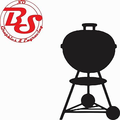 $ CDN5.46 • Buy 4-9  WEBER KETTLE Grill BBQ Barbecue Smokey Charcoal Smoker Vinyl Decal NoBS