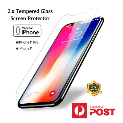 AU4.95 • Buy 2x IPhone 11 Pro Xs Max Xr 7 8 Anti-Scratches Tempered Glass Screen Protection