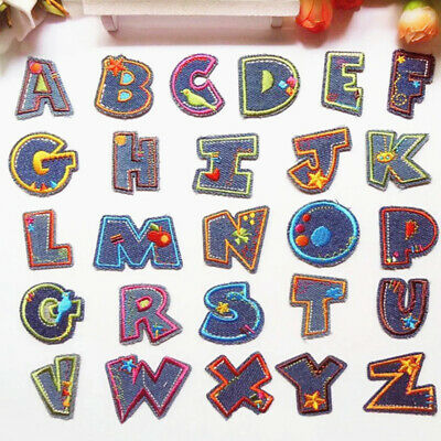 £2.29 • Buy Christmas Alphabet Letters Embroidered Fabric Iron On Patch Badges DIY Clothes