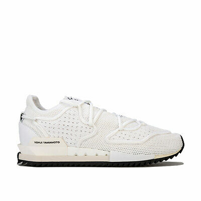 Y-3 Harigane Ii Trainers In White Black- Lace Fastening- Breathable Mesh Upper- • 69.99£