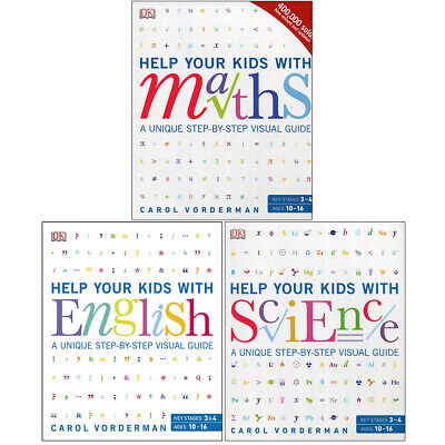 Carol Vorderman Maths,English,Science 3 Books Collection Set Paperback NEW • 39.99£