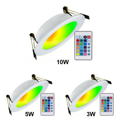 £9.35 • Buy 3W 5W 10W Color Changing RGB Downlight LED Recessed Ceiling Panel Light+ Remote