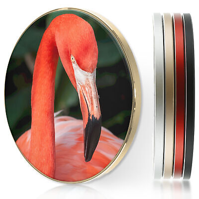 AU36.10 • Buy Wireless Charger For Apple Iphone 11/XS/8/Samsung S10/S9/S8 - Pink Flamingo Head
