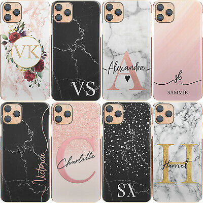 £6.99 • Buy Personalised Phone Case For Apple IPhone 13/12/11/Max Initial Marble Hard Cover