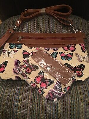 Butterfly Crossbody Set, Bag And Coin Purse • 24$