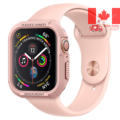 $ CDN17.24 • Buy Rugged Armor Designed For Apple Watch Case For 44mm Series 5 Series 4 - Rose ...