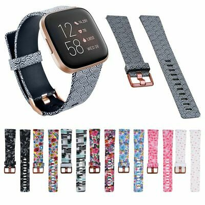 $ CDN8.67 • Buy Soft Silicone Flower Floral Print Watch Band Strap Bracelet For Fitbit Versa 2