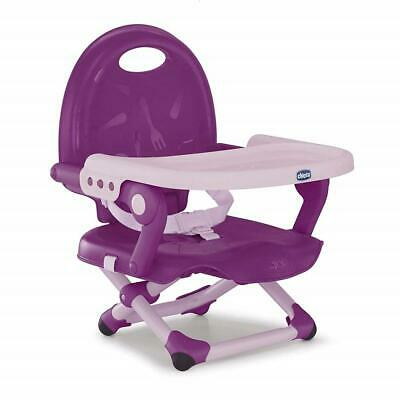 Chicco Pocket Snack Highchair Booster Seat (Violetta) 6m+ Harness And Tray • 30£