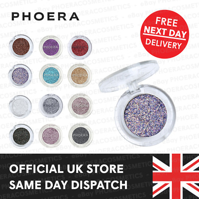 £3.85 • Buy Phoera Glitter Eyeshadow Palette Pigment Color Eye Shadow Sparkly Shimmer Makeup