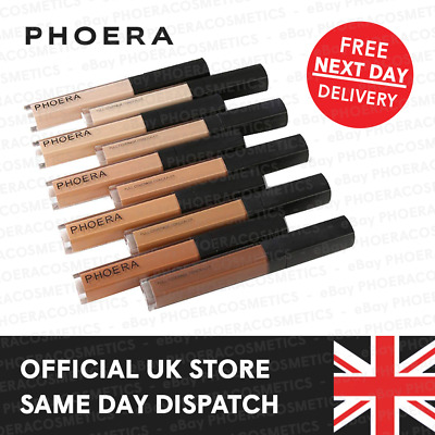 Phoera Full Coverage Matte Liquid Concealer Make Up Foundation Eye Dark Circle • 4.95£