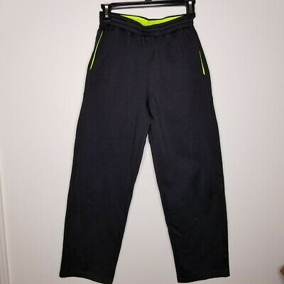 $6.99 • Buy Tek Gear Boy's Athletic Pants Large Black Sweatpants Elastic Waist Pockets EUC