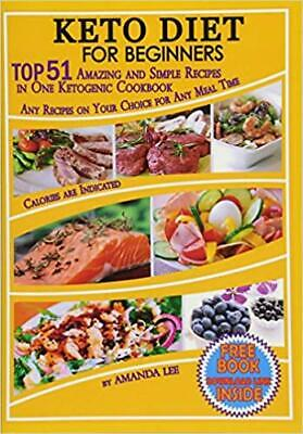 Keto Diet Recipes Beginners Ketogenic Cookbook Weight Loss Low Carb Food Dieting • 4.99$