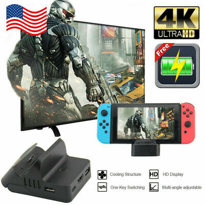 $25.71 • Buy QW Cooling For Nintendo Switch HDMI 4K Adapter TV Charger Charging Dock Holder