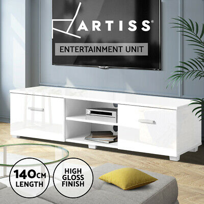 AU129.95 • Buy Artiss TV Cabinet Entertainment Unit Stand High Gloss Storage 140cm White